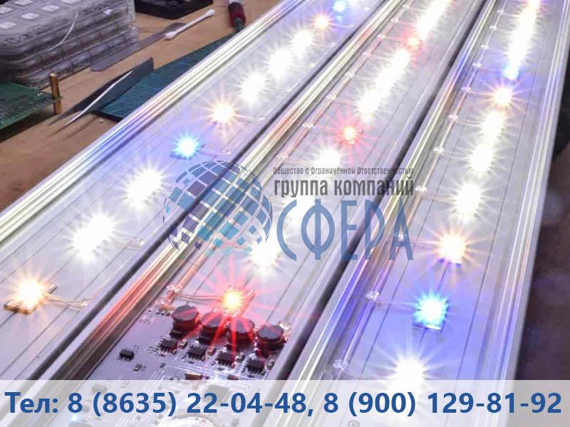 Картинка производства светодиодных светильников от ГК Сфера
