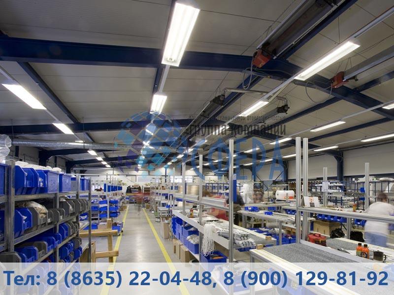 Картинка освещения промышленных предприятий от ГК СФЕРА