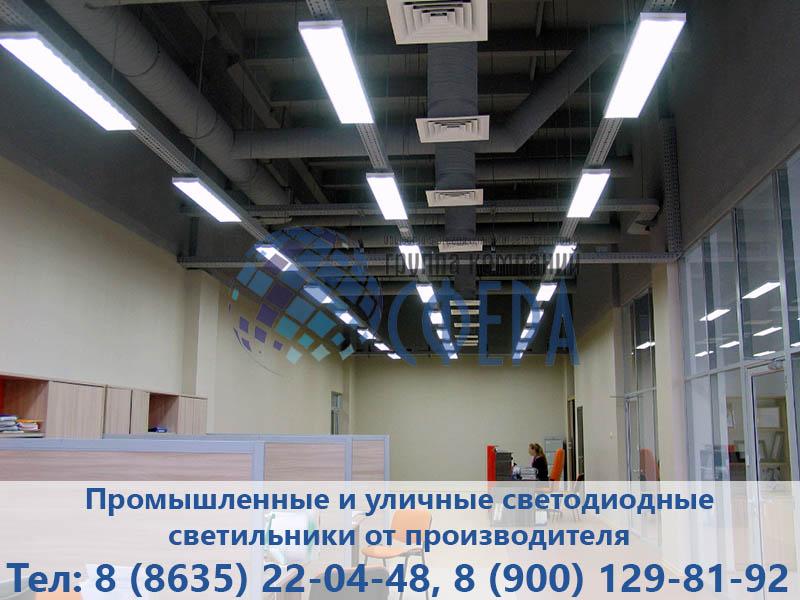 Площадь освещения светодиодного светильника - картинка ГК Сфера
